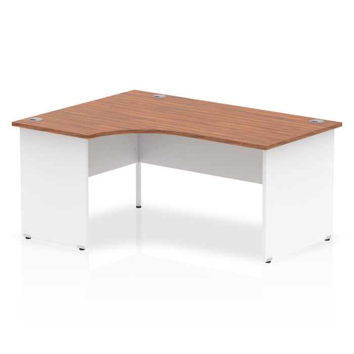 Executive Impulse Panel End 1600 Left Hand Crescent Desk White Panels