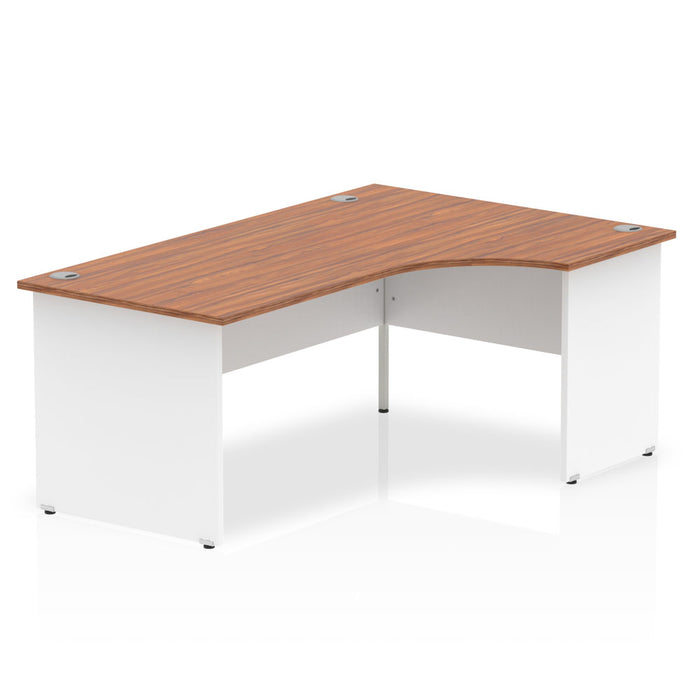 Executive Impulse Panel End 1800 Right Hand Crescent Desk White Panels