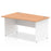 Impulse Panel End 1400 Left Hand Wave Desk White Base