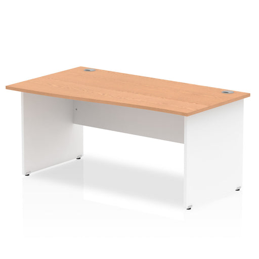 Impulse Panel End 1600 Left Hand Wave Desk White Base