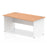 Impulse Panel End 1600 Right Hand Wave Desk White Base