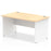 Impulse Panel End 1400 Rectangle Desk Top White Panels