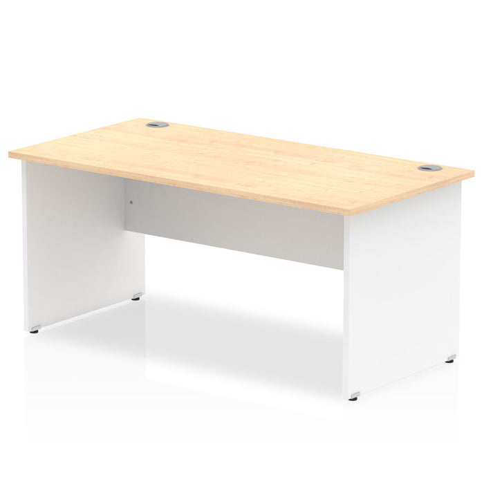 Impulse Panel End 1600 Rectangle Desk Top White Panels