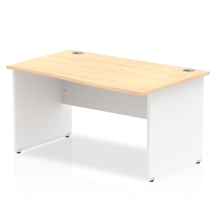 Impulse Panel End 1400 Right Hand Wave Desk White Base