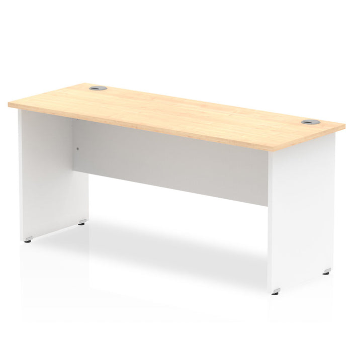 Impulse Panel End 1600/600 Rectangle Desk Top White Panels