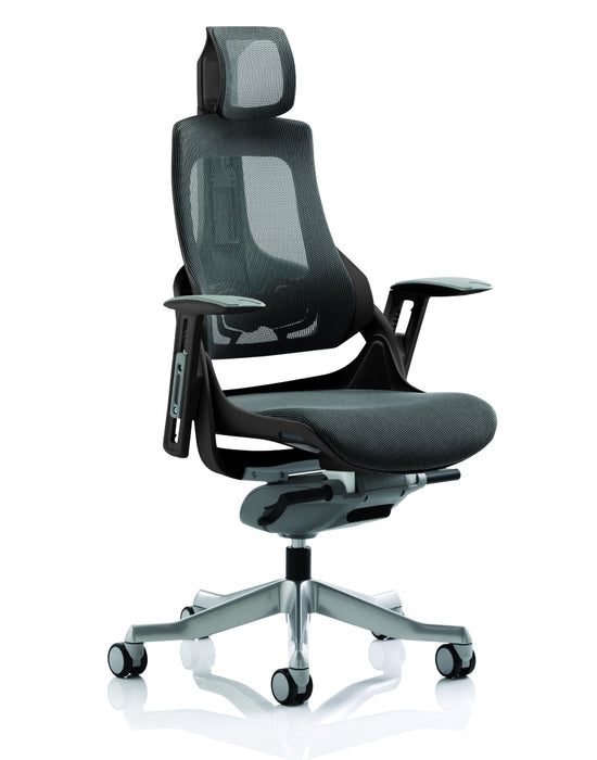 Zure Executive Chair Charcoal Mesh With Arms