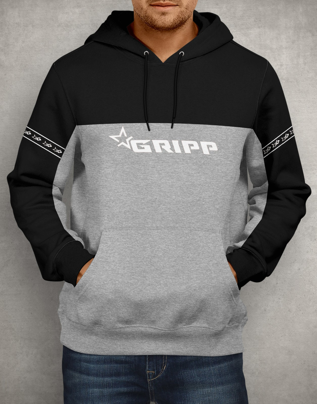 Gripp POWER Hoodie - Black/Grey