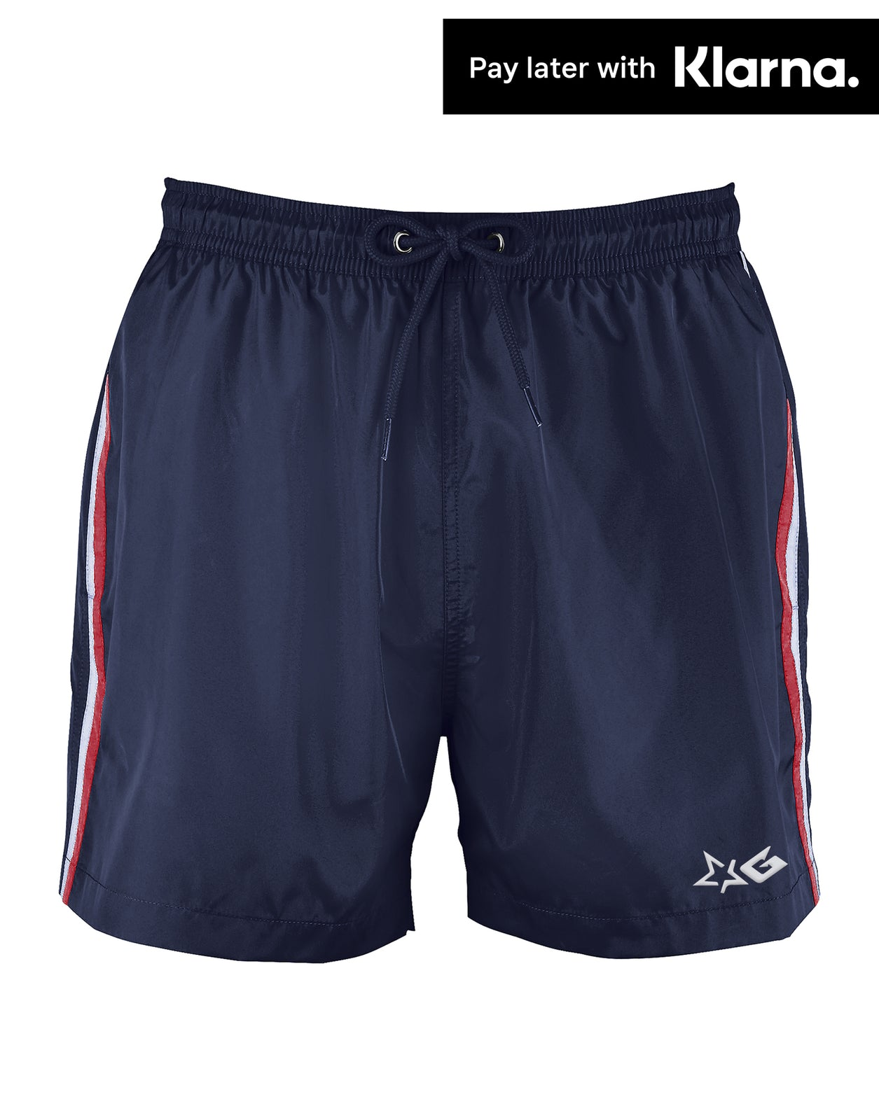 Navy Gripp Troika Swim Shorts - Front View