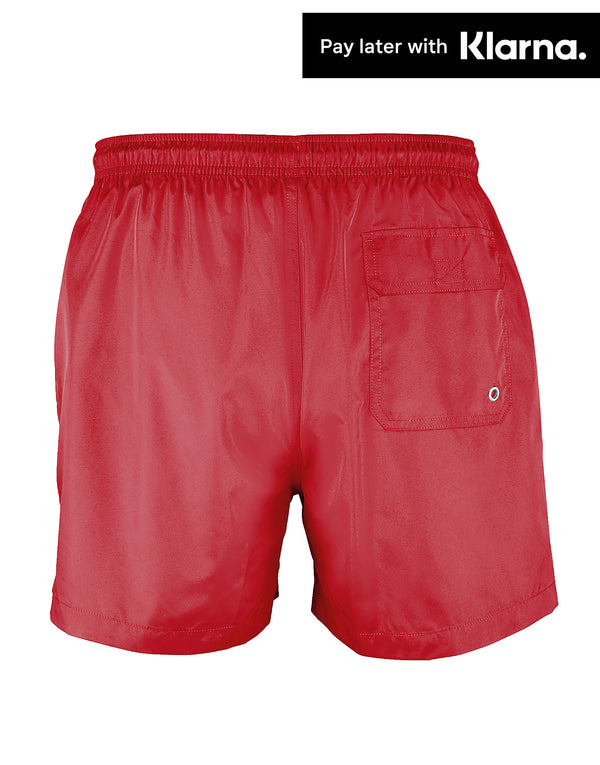 Red Gripp Troika Swim Shorts - Back View
