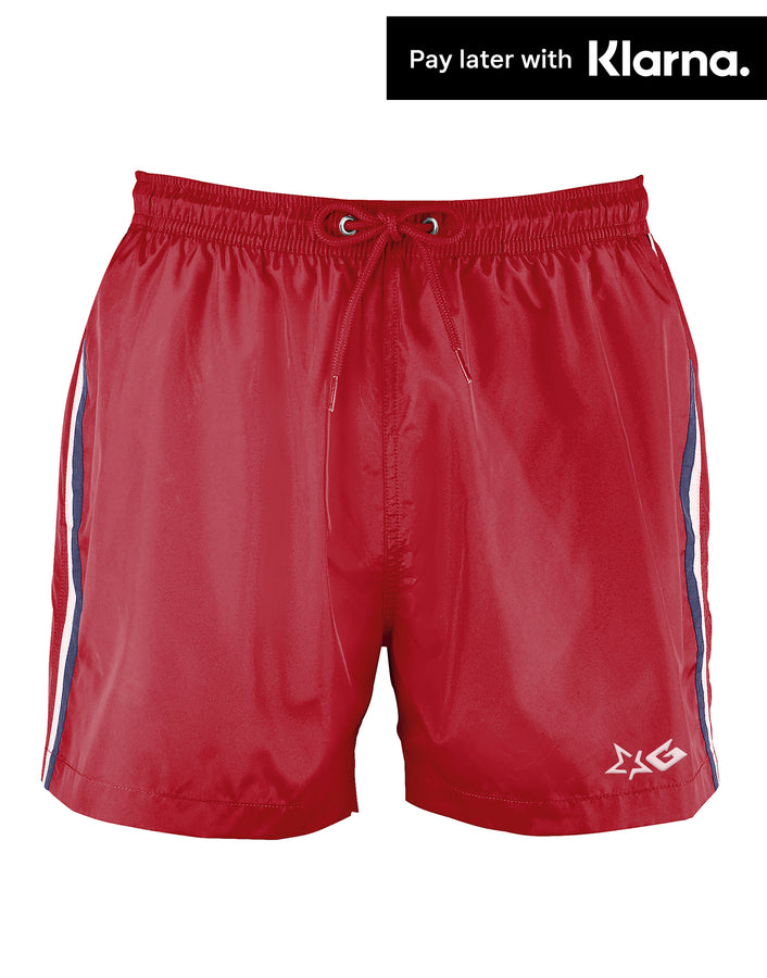 Red Gripp Troika Swim Shorts - Front View