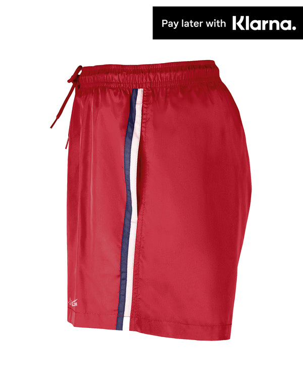 Red Gripp Troika Swim Shorts - Side View