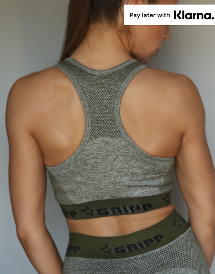 Flex Sculpting Sports Bra - Khaki