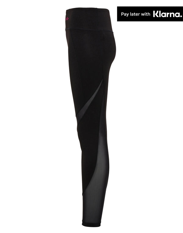 Mesh Tech Panel Leggings - Black