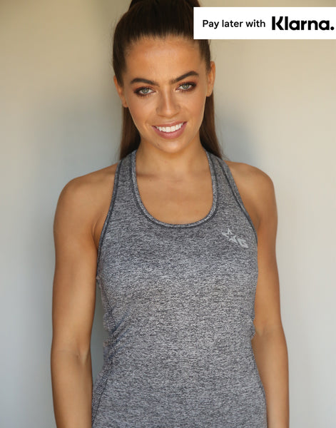 Flex Sculpt Vest Top - Charcoal