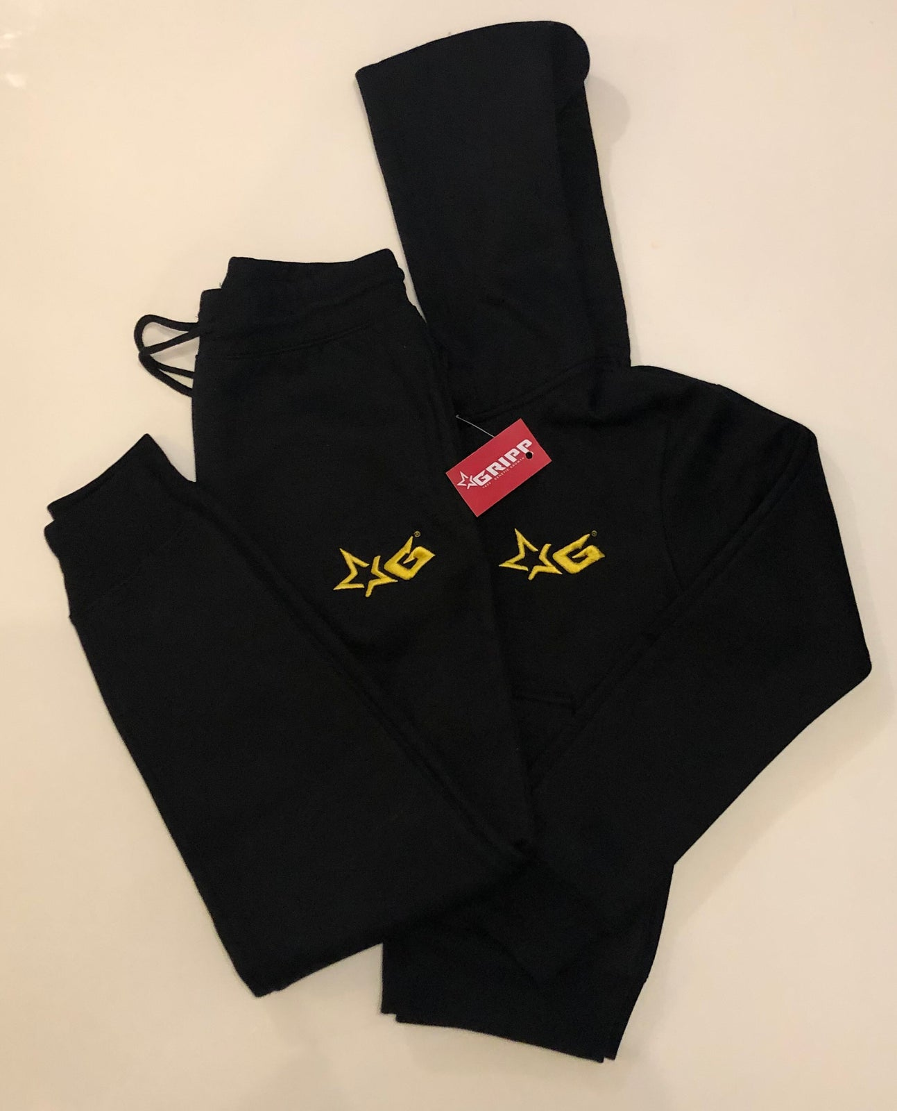 Ladies Black & Gold Signature Tracksuit
