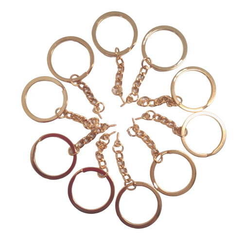 10 pack Light Rose Gold Keychains