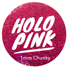 Load image into Gallery viewer, Holo Pink *1mm Chunky*