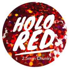 Load image into Gallery viewer, Holo Red *2.5mm Chunky*
