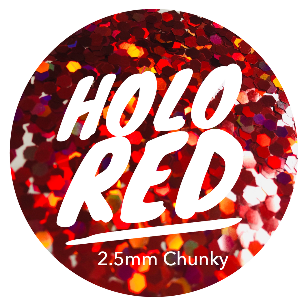 Holo Red *2.5mm Chunky*