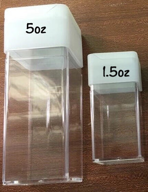 Square Glitter Shaker Containers (2 Sizes)