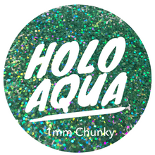 Load image into Gallery viewer, Holo Aqua *1mm Chunky*