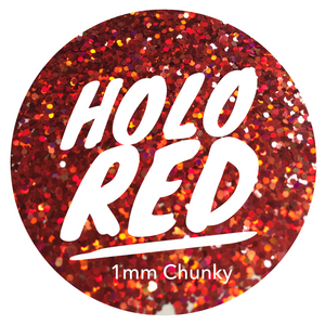Holo Red *1mm Chunky*