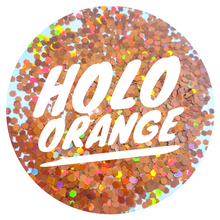 Load image into Gallery viewer, Holo Orange *2.5mm Chunky*