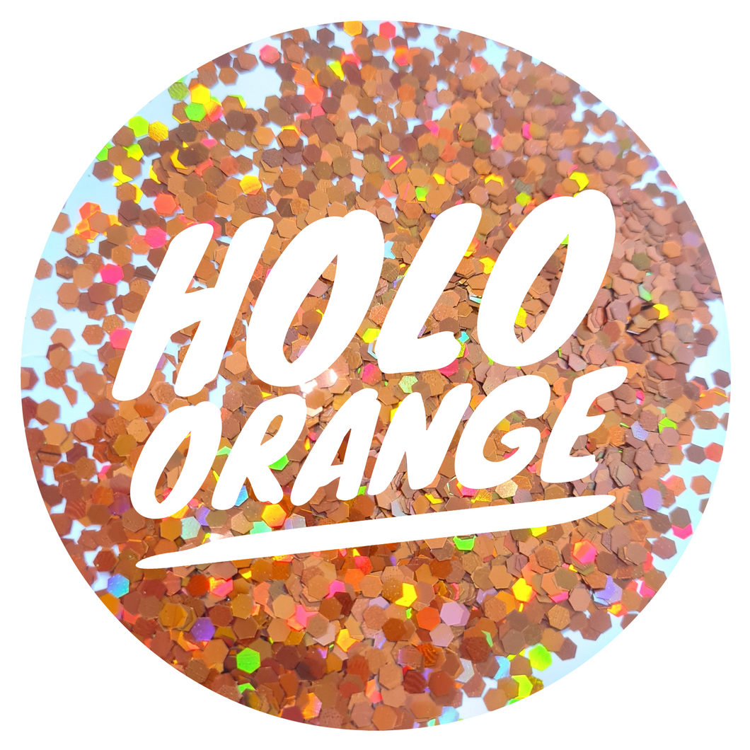 Holo Orange *2.5mm Chunky*