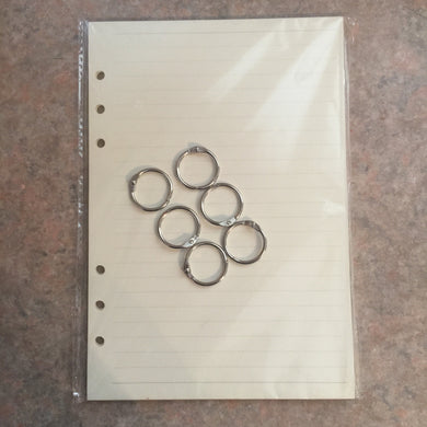 A5 notebook paper and rings