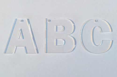 Acrylic Letters Clear A-Z