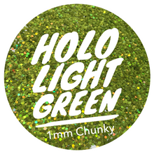 Load image into Gallery viewer, Holo Light Green *1mm Chunky*