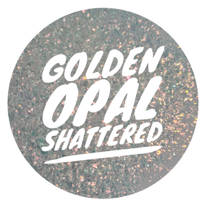 Tiny Shattered Golden Opal - Irregular shape