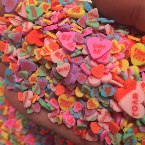 Mixed Sweet Hearts *Polymer Clay Slices*