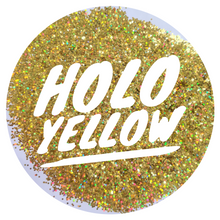 Load image into Gallery viewer, Holo Yellow *1mm Chunky*