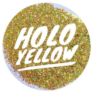 Holo Yellow *1mm Chunky*