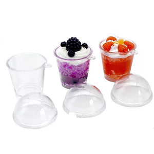 Mini Clear Cups with keychain