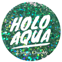 Load image into Gallery viewer, Holo Aqua *2.5mm Chunky*