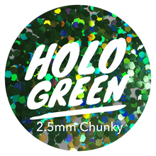 Load image into Gallery viewer, Holo Green *2.5mm Chunky*