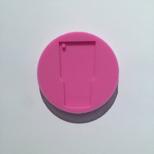 Silicone tumbler keychain mould
