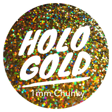 Load image into Gallery viewer, Holo Gold *1mm Chunky*