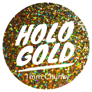 Holo Gold *1mm Chunky*