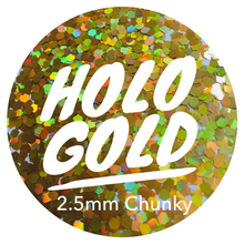 Load image into Gallery viewer, Holo Gold *2.5mm Chunky*