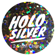 Load image into Gallery viewer, Holo Silver *2.5mm Chunky*