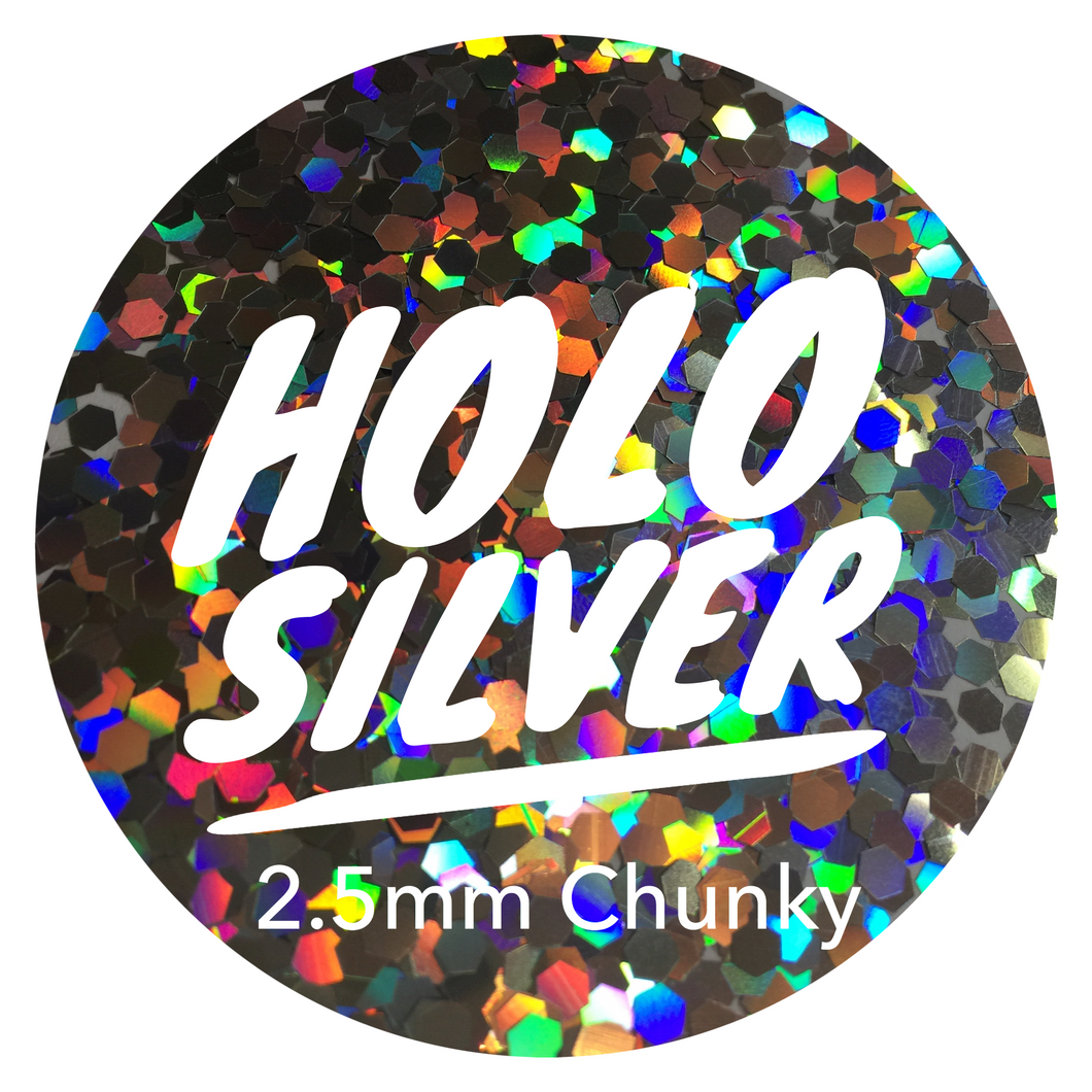 Holo Silver *2.5mm Chunky*