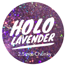 Load image into Gallery viewer, Holo Lavender *2.5mm Chunky*