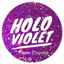 Load image into Gallery viewer, Holo Violet *1mm Chunky*