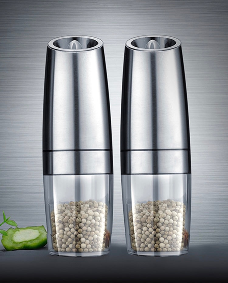 Electric Automatic Mill Pepper and Salt Grinder LED Light