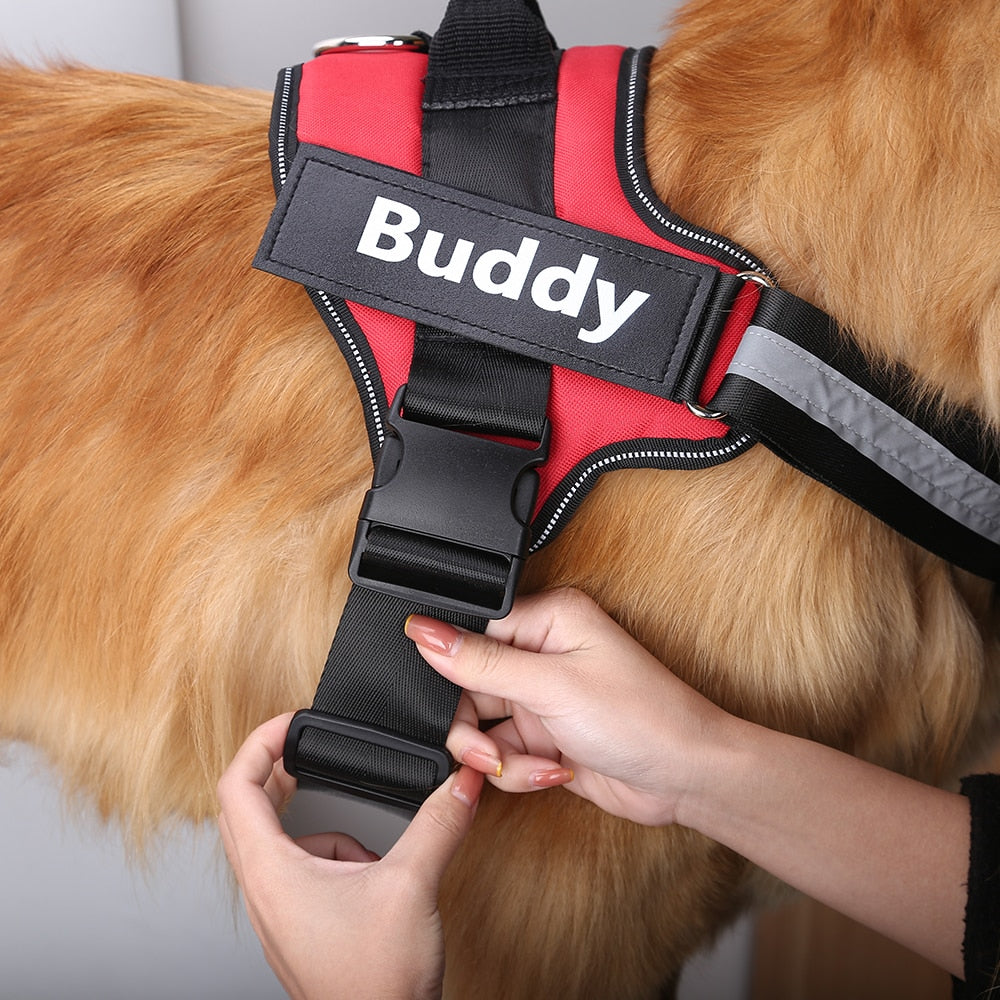 Personalized Reflective Dog Harness with No Pull