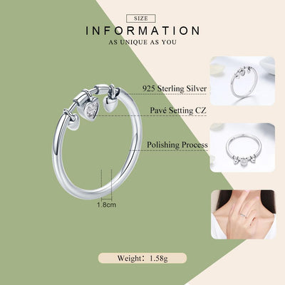 Heart Clear Female Ring