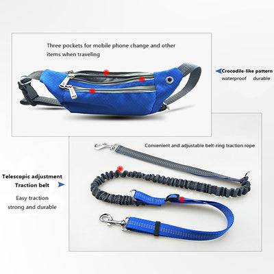 Multi-Function Dogs Leash Adjustable Running And Enjoy Your Pet